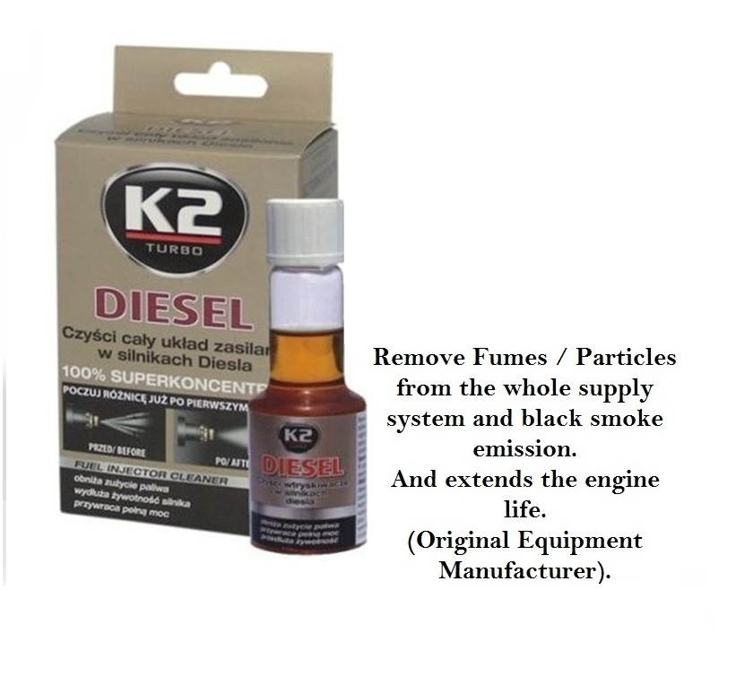 DIESEL 50ml FUEL INJECTOR CLEANER LOWER EMMISIONS FUEL ALL ENGINES ADDITIVE